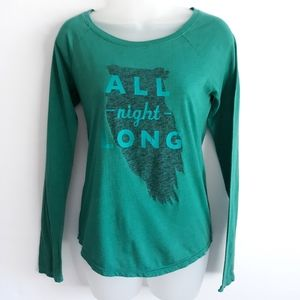 "🌲3 for $ 20 AEO ""All night long"" owl tee"
